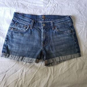 7 For All Mankind Midrise Cuffed Jean Shorts